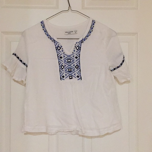 abercrombie kids Other - Girls White Blouse With Blue Design